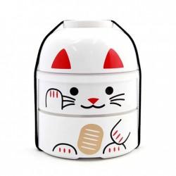 Kokeshi bento MANEKI NEKO BIG blanc