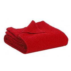 Couvre-lit Vivaraise en coton gaufré MAIA coloris Fushia