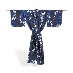 Yukata femme SAKURA bleu