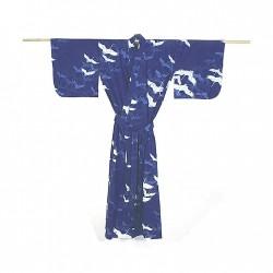 Yukata femme GRUE bleu