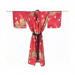 Yukata femme TOBUTORI rouge