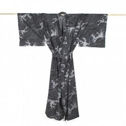 Yukata homme HOKUSAI noir
