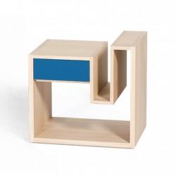 Chevet CRENEAU tiroir bleu Drugeot