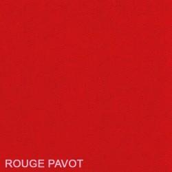 Housse de futon rouge pavot