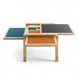 Table PAR TROIS Sculptures Jeux
