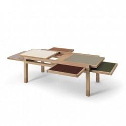 Table HEXA chêne naturel EARTH