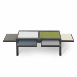 Table HEXA chêne anthracite MIX